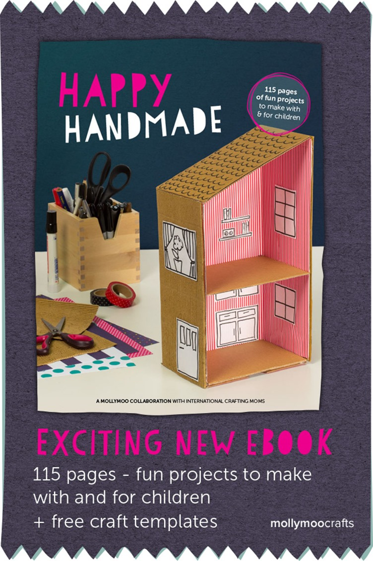 Happy Handmade is 115 pages of fun projects to make with and for children.   @mamamissblog