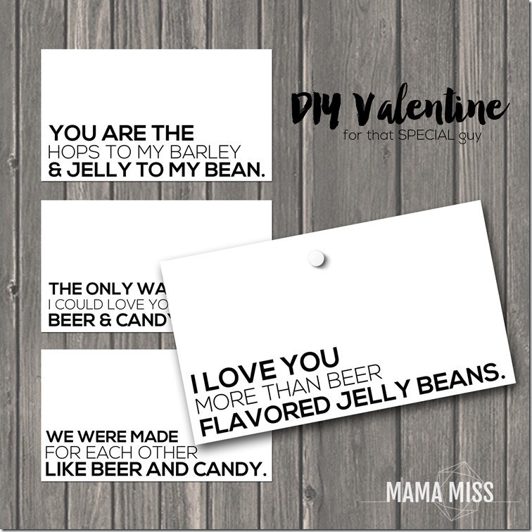 Some fun & simple printables to make a DIY Valentine for that special guy!  | @mamamissblog #valentine