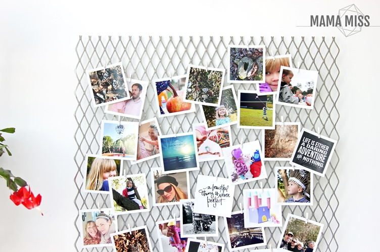 Simplest DIY Photo Display EVER - get your pics off your phone & printed!!   @mamamissblog