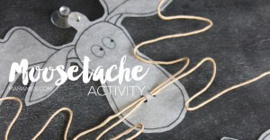 Celebrate the MOOSESTACHE with a simple & hilarious Moosetache Activity - let the laughs commence! From @mamamissblog