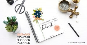2015/2016 Mid Year Blogger Planner, Calendar, and Menu Planner