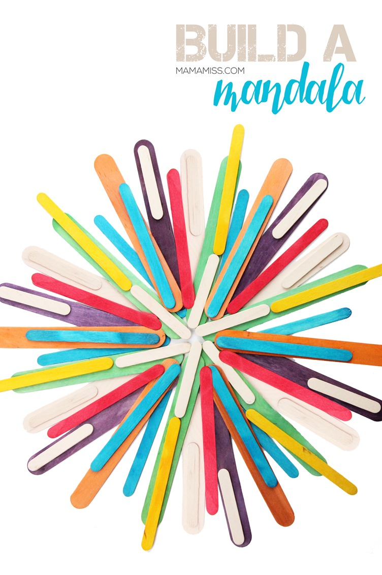 LET THEM BUILD - Craft Stick Mandalas - a fun & colorful way to create with everyday materials!  From @mamamissblog
