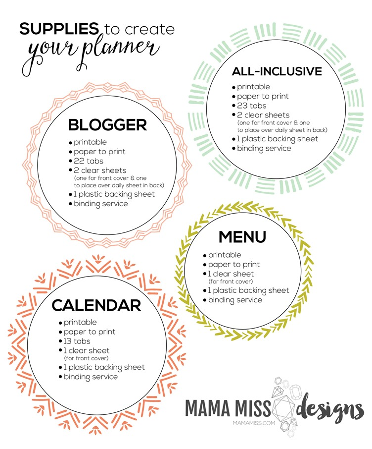 It's here, with an exclusive price - the Mid-Year 2015/2016 Blogger, Calendar, & Menu Planner @mamamissblog