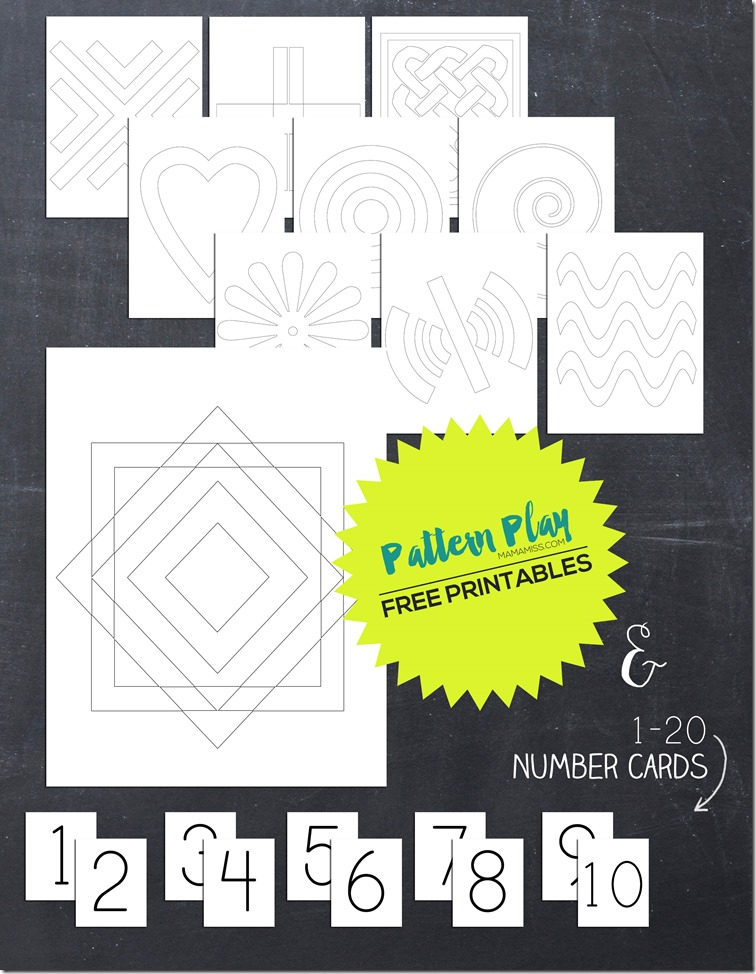 Reinforce your counting, while building critical thinking skills and developing visual discrimination, with these two math activities to accompany the book Ten Black Dots // @mamamissblog