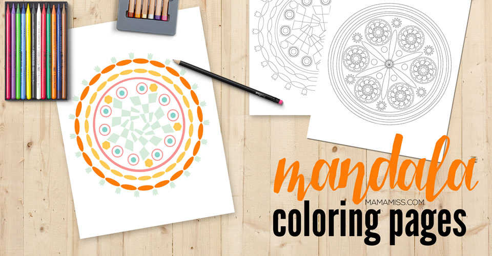 Print out these beautiful Mandala Coloring Pages & get your coloring on // @mamamissblog