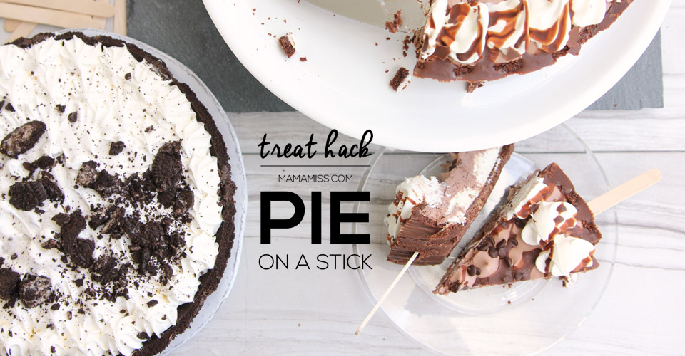 PIE ON A STICK, Frozen pies + popsicles sticks = instant summer treat! @mamamissblog