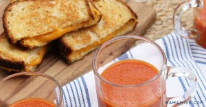 Vegan Tomato Soup and Grilled Cheese