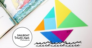 Take a ride on the open sea with 8 Sailboat Tangram Designs | @mamamissblog