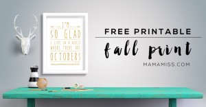 Welcome fall on your wall with this beautiful L.M. Montgomery free printable quote from Anne of Green Gables from @mamamissblog