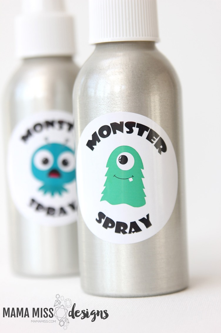 Today is the day to spray those silly little monsters away - make some MONSTER SPRAY today with this free printable!  From @mamamissblog