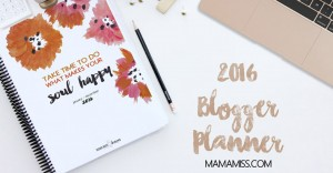 2016 Blogger Planner and Day Planner