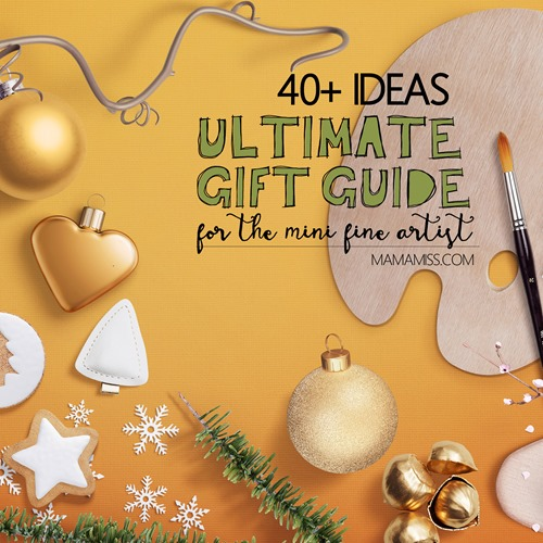 Have a little fine artist in your life?  These little gift guides are sure to please and inspire all mini fine artists.  Gift Ideas for the Mini Matisse, Picasso, & da Vinci from @mamamissblog