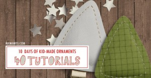 10 Days of Kid-Made Ornaments – week two