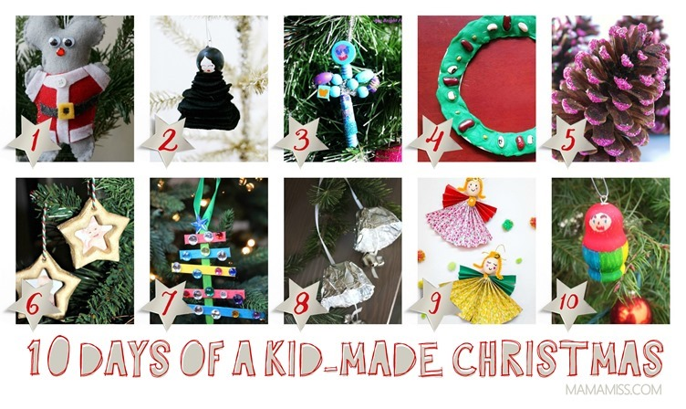 10 Days Of Kid-Made Ornaments [40 tutorials] Inspired By Children's Books @mamamissblog