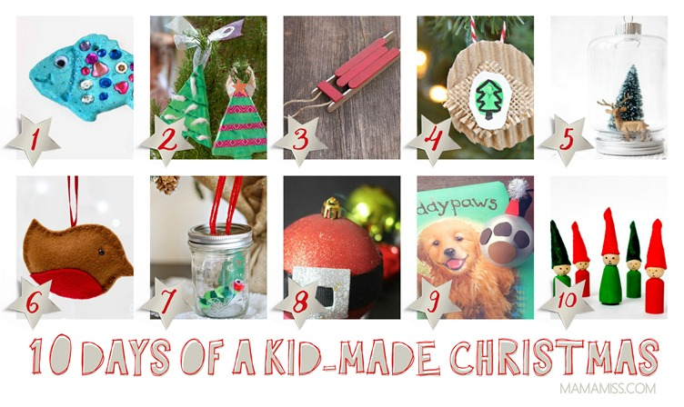 10 Days Of Kid-Made Ornaments [50+ tutorials] Inspired By Children's Books @mamamissblog
