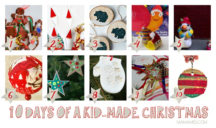 10 Days Of A Kid-Made Christmas - featuring 70+ ornaments inspired by children's books.