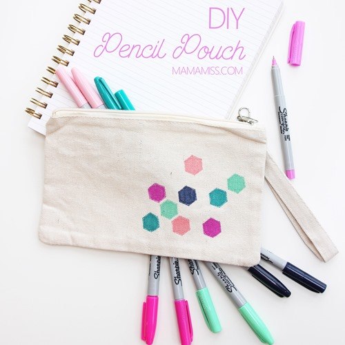 There are lots of ways to get ready for the new semester of school, restocking on new school supplies is one of them, making a fabulous DIY Pencil Pouch is another!