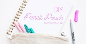 DIY Pencil Pouch