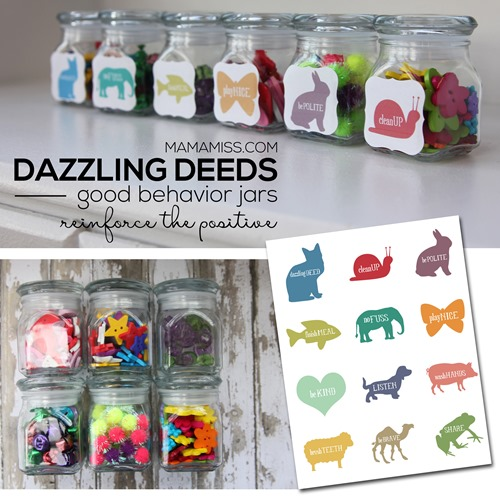 "A ""dazzling deed"" is something that is spectacular, I mean a super-duper spectacular behavior! And these jars are what is working for us!"