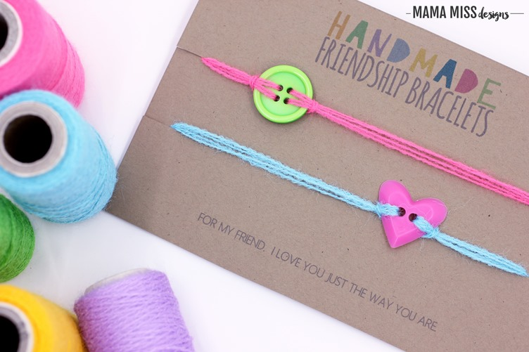 Tell a friend you love them just the way they are with these handmade colorful friendship bracelets. @mamamissblog