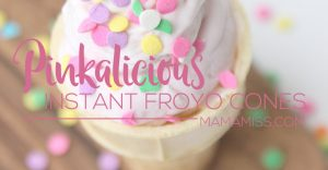 Instant Froyo Cones! You'll never guess how EASY these are to make. From @mamamissblog