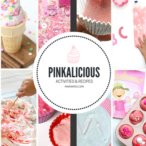AWESOME! Pinkalicious Activity Ideas for pre-writing, science, sensory, cooking, alphabet, colors, numbers, and shapes. From @mamamissblog