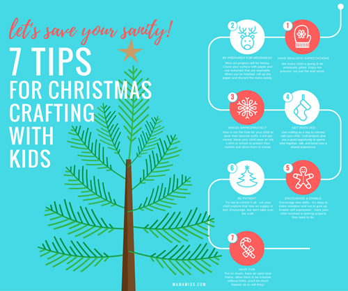 Christmas Crafting With Kids from @mamamissblog