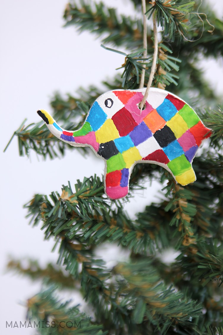 painted elmer ornament