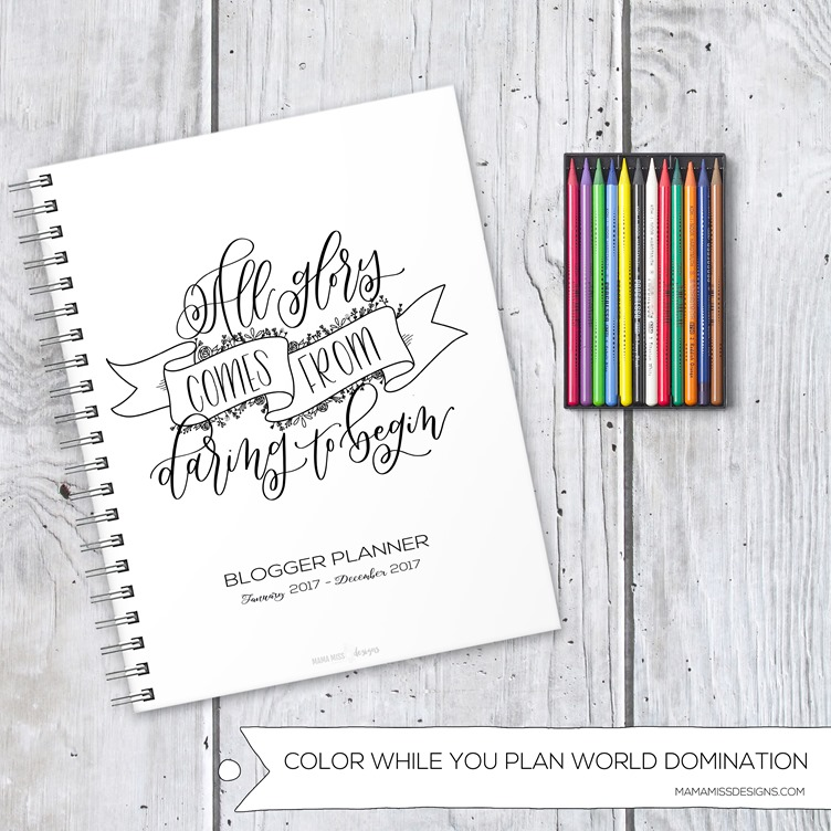 Here's the all NEW 2017 Blogger Planner - with 10 new pages, revised & redesigned pages - making it the ultimate and only organizational tool needed for bloggers in 2017!