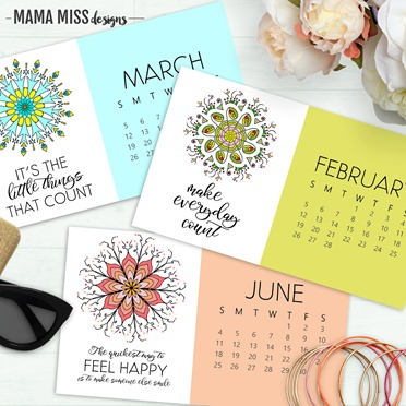 I'm loving the new Mandalas 2017 Calendar for this year from @mamamissblog - this colorful desk calendar brightens my work space and brings a little zen to my workday!