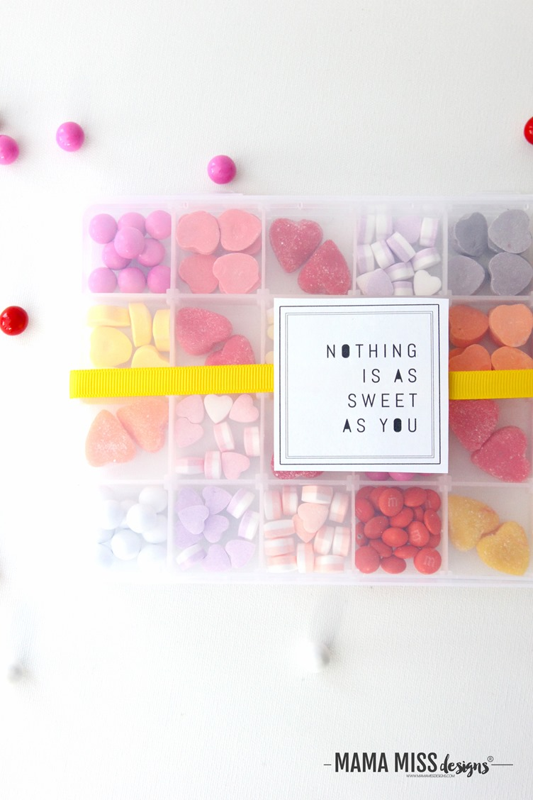 """Nothing is as sweet as you"", and that's the truth! This DIY candy box is as simple as can be. From @mamamissblog"
