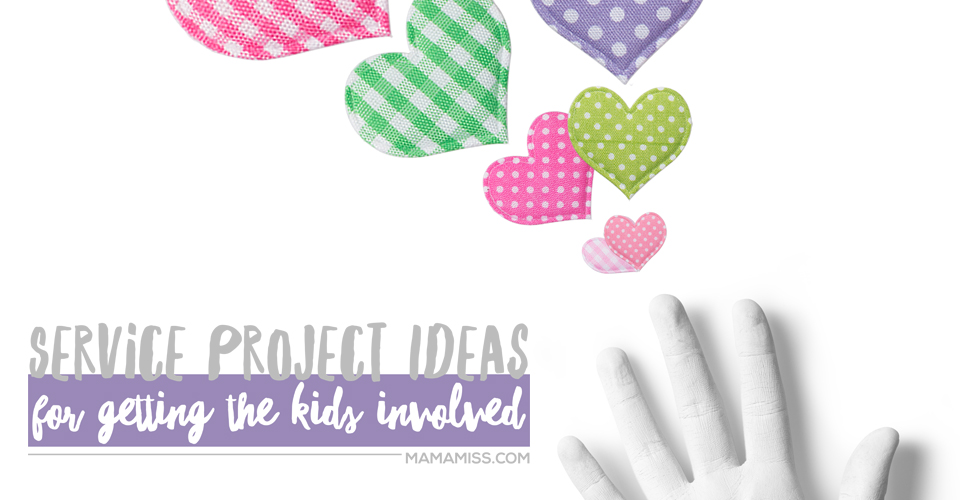 Great Service Project Ideas for Getting the Kids Involved - You have the ability to inspire your littles to make a difference in the lives of others. From @mamamissblog #serviceideasforkids