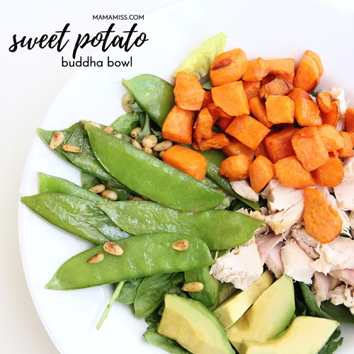 Sweet Potato Buddha Bowls - a healthy and hearty meal that everyone will love! From @mamamissblog #buddhabowl #sweetpotato