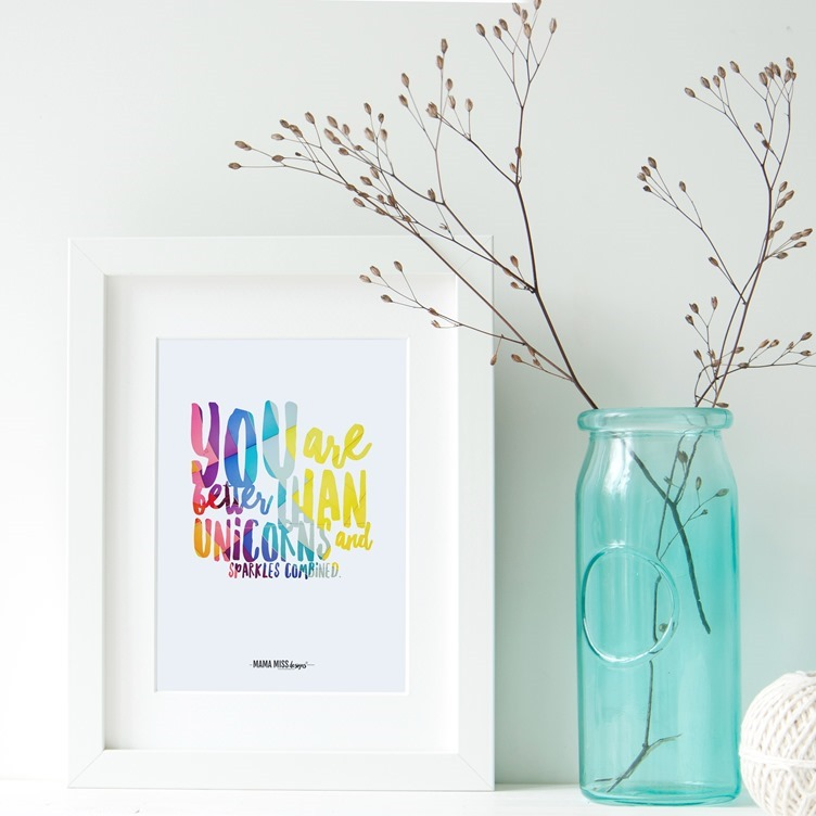 You Are Better Than Unicorns and Sparkles combined From @mamamissblog #unicornart #unicorns