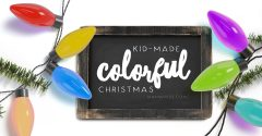 A Kid-Made Colorful Christmas