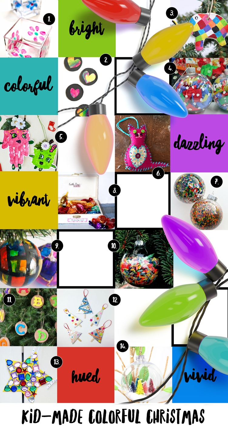 Colorful, vibrant, & vivid #KidMadeChristmas Ornaments and Gifts from @mamamissblog