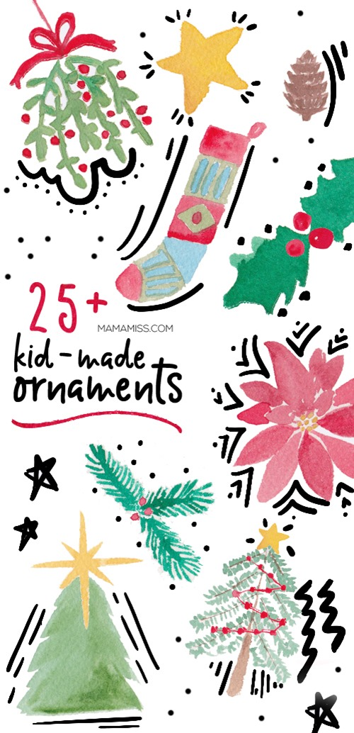 From penguins to pom-poms and snowflakes to sequins here are the best kid-made Christmas ornaments for kid crafters of every age to make this season! Find them all on @mamamissblog